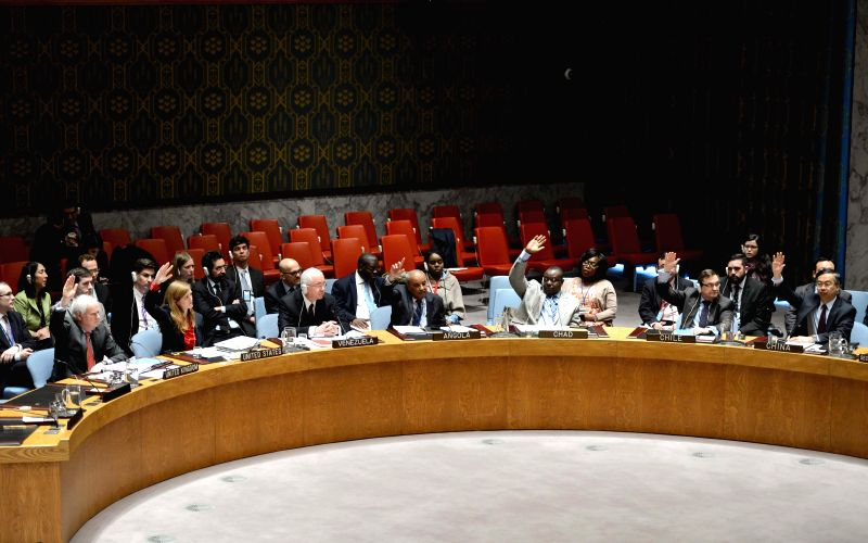 The United Nations Security Council votes on a draft resolution regarding Syria at the UN headquarters in New York, on March 6, 2015. The UN Security Council on ...