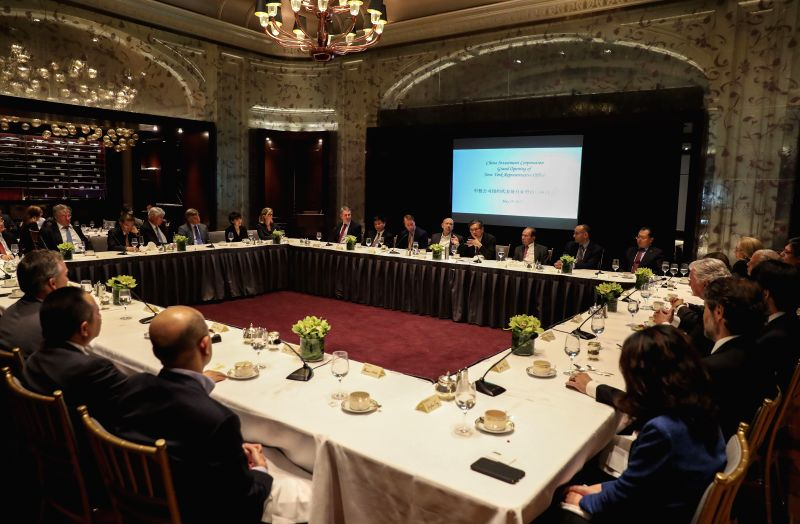 NEW YORK, May 20, 2017 - Delegates attend the opening ceremony of China Investment Corporation (CIC)'s New York representative office and an investment seminar in New York, the United States, May 19, ...