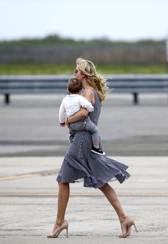NEW YORK, May 4, 2017 - Ivanka Trump, daughter of U.S. President Donald Trump, prepares to leave John F. Kennedy International Airport in New York, the United States, May 4, 2017. As a native New ...