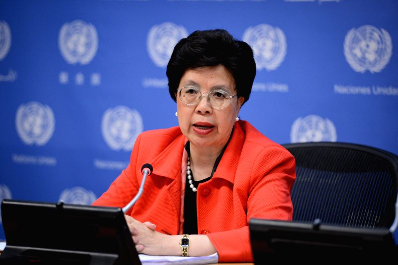 Dr. Margaret Chan, chief of the UN's World Health Organization (WHO), speaks during a press briefing at the UN headquarters in New York, on Sept. 2, 2014. With the