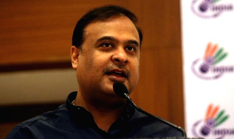 Newly-appointed Badminton Association of India president Dr. Himanta Biswa Sarma addresses during a press conference in New Delhi on May 5, 2017.