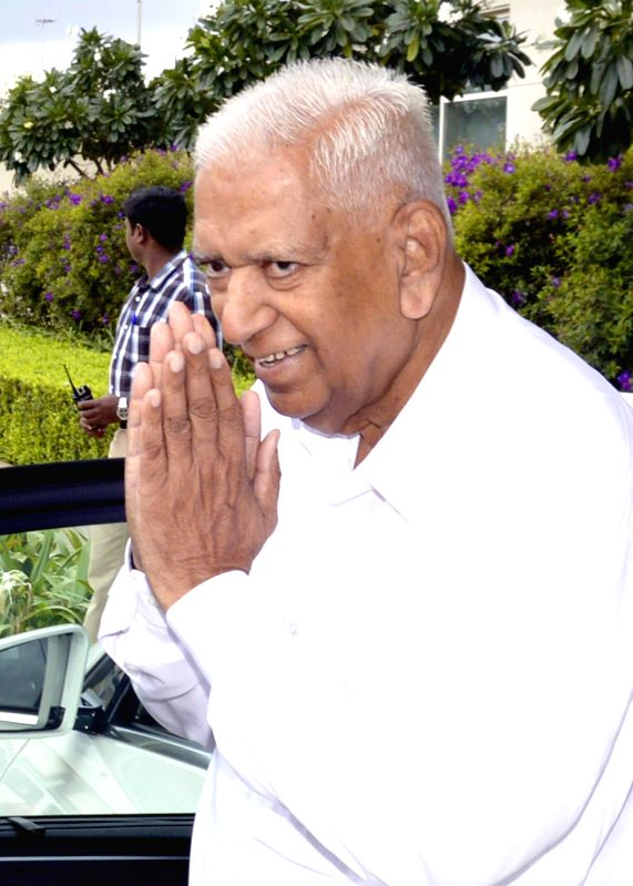Newly appointed Karnataka Governor Vajubhai Rudabhai Vala during his swearing-in ceremony as the Governor of the state at Raj Bhavan in Bangalore on Sept 1, 2014.