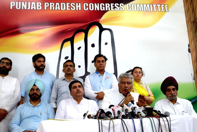Newly appointed Punjab Congress chief Sunil Jakhar addresses a press conference in Chandigarh, on May 10, 2017.