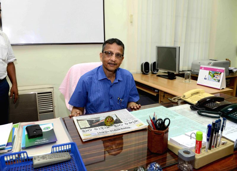Newly appointed West Bengal Election Commissioner Susanta Ranjan Upadhyay, a 1980 batch West Bengal Civil Service officer assumes office in Kolkata on July 22, 2014.