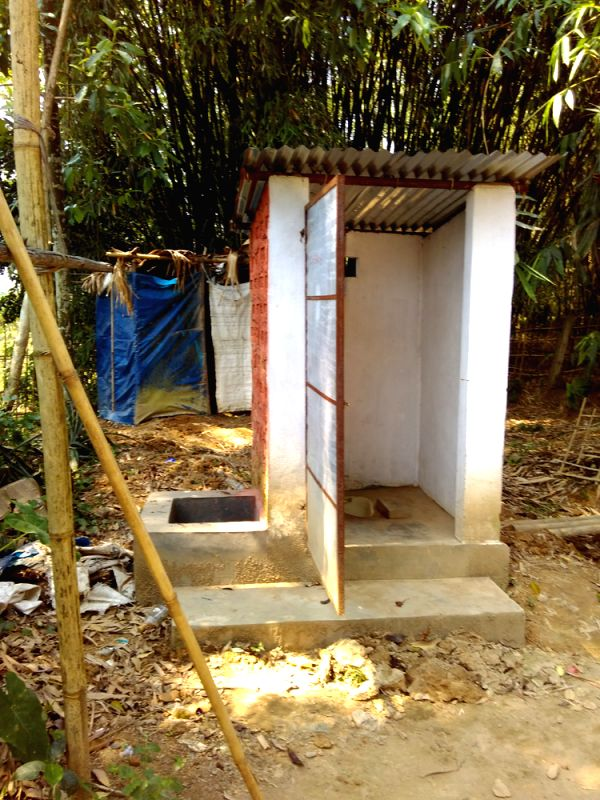 Newly constructed  toilets in Lakwa block.
