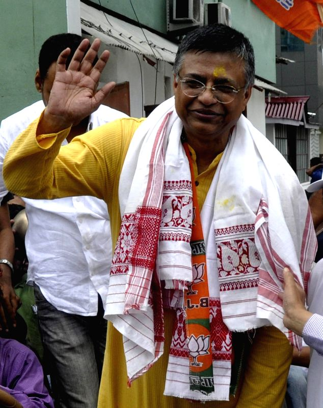 Newly elected Assam BJP President Siddhartha Bhattacharjee in Guwahati on Aug 17, 2014.