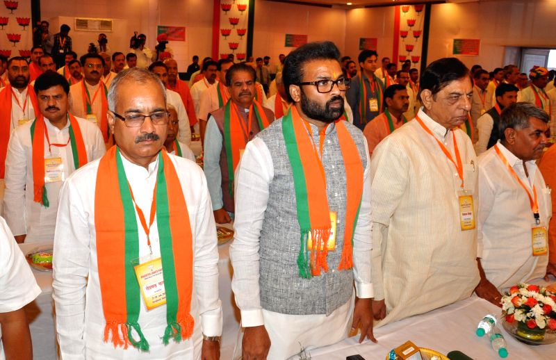 Newly elected BJP MPs during the workshop at Surajkund in Faridabad on June 28, 2014.