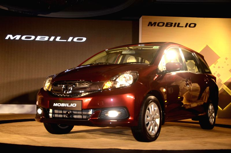 Newly launched Honda Mobilio in Mumbai on July 24, 2014.