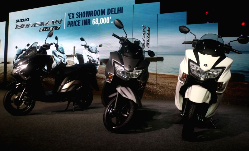Newly launched Suzuki Burgman Street 125 Scooter, in New Delhi, on July 19, 2018.