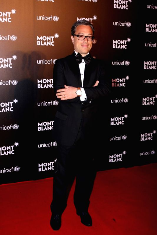 Nicolas Baretzki, CEO of Montblanc during the Montblanc UNICEF event in Mumbai on May 2, 2017.