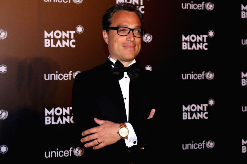 Nicolas Baretzki, CEO of Montblanc during the Montblanc UNICEF event in Mumbai on May 2, 2017.