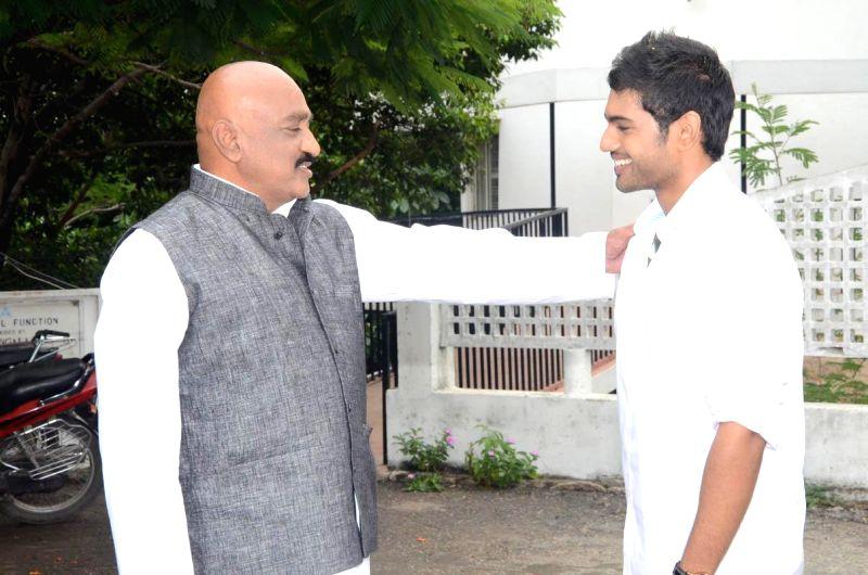 Nikhita International, Hitan Entertainment jointly producing a Telugu film muhurath.