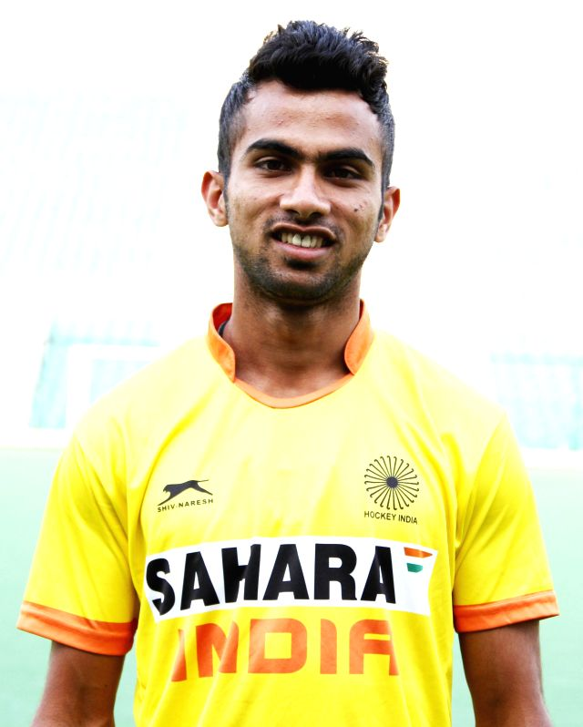 Nikkin Thimmaiah who was selected in the Indian Men Hockey Team for upcoming Hockey World Cup 2014 which is scheduled to begin on 31st May 2014 in The Hague, Netherlands.