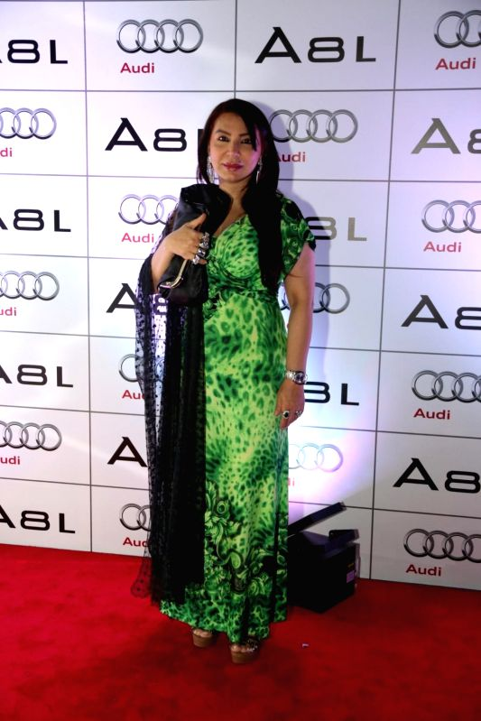 Nilofer Amrohi during the launch of Audi A8L in Dubai.
