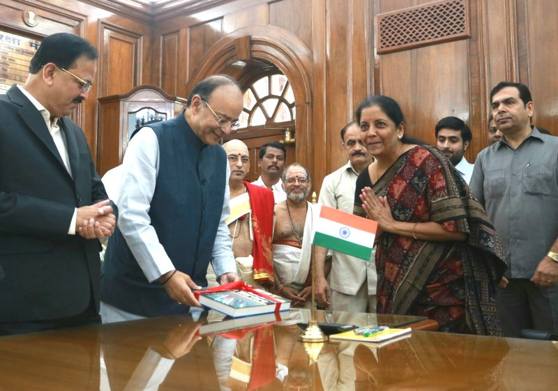Nirmala Sitharaman takes charge as defense minister