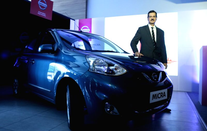 Nissan India MD Arun Malhotra launches the New Micra in Noida, on June 2, 2017. - Arun Malhotra