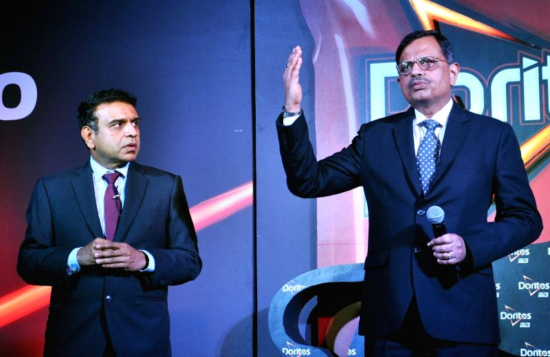 Niteen Pradhan and Jagrut Kotecha of PepsiCo India during a press conference in Kolkata, on June 9, 2017.