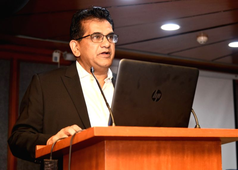 "NITI Aayog CEO Amitabh Kant delivers the 33rd lecture of the ""Lecture Series"", organised by the Central Vigilance Commission (CVC) on the topic ""Transformation of ..."