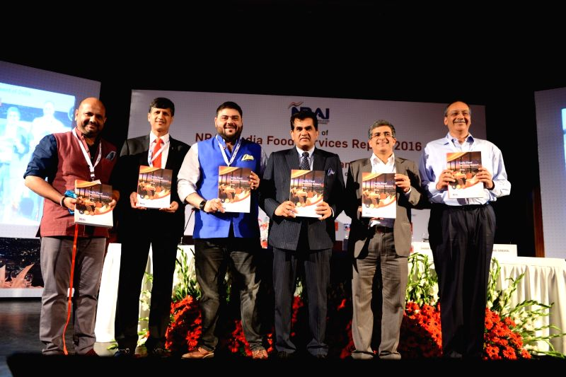 NITI Aayog CEO Amitabh Kant during the launch of 'NRAI India Food Services Report 2016' in New Delhi on July 20, 2016.