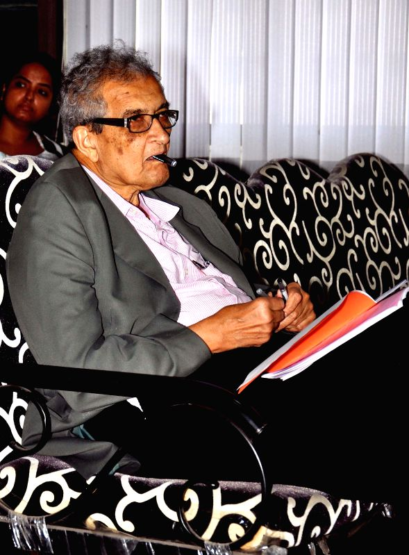 Nobel laureate Amartya Sen during a workshop on 'People's Health and Public Policy' in Kolkata on July 18, 2014.