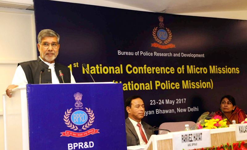 Nobel Laureate Kailash Satyarthi addresses at the Valedictory Session of the National Conference of Micro Missions of National Police Mission, organised by the Bureau of Police Research ... - Kailash Satyarthi