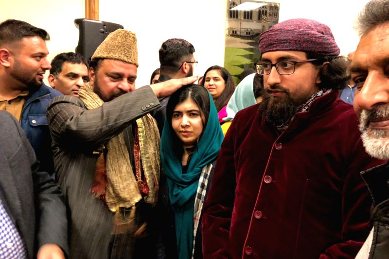 Nobel peace prize winner Malala Yusufzai meets the priest of Ajmer Sharif Dargah, Syed Bilal Chishty and expressed her desire to visit the Sufi shrine of Khawaja Gharib Nawaz in Ajmer; in ...