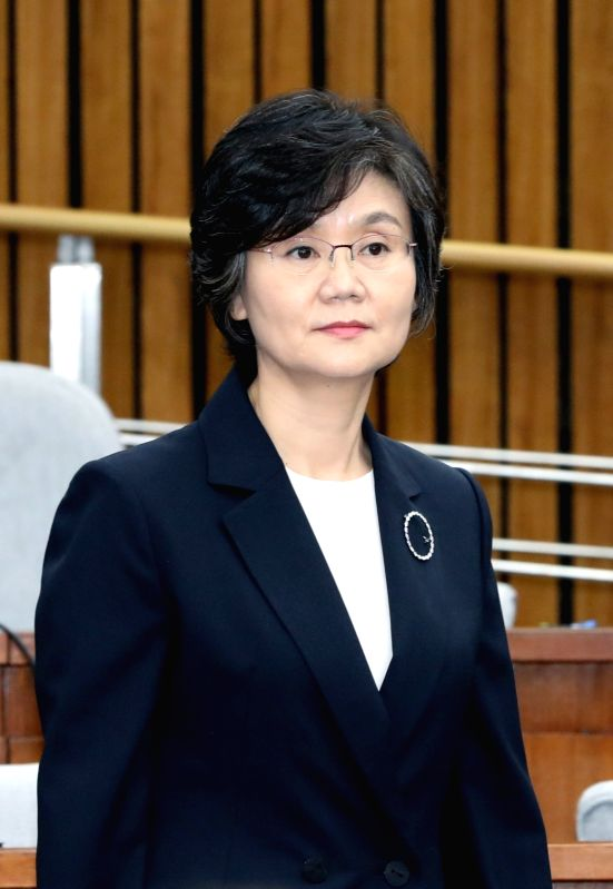 Noh Jeong-hee, who has been nominated by President Moon Jae-in as a candidate for Supreme Court justice, attends her confirmation hearing at the National Assembly in Seoul on July 24, 2018.