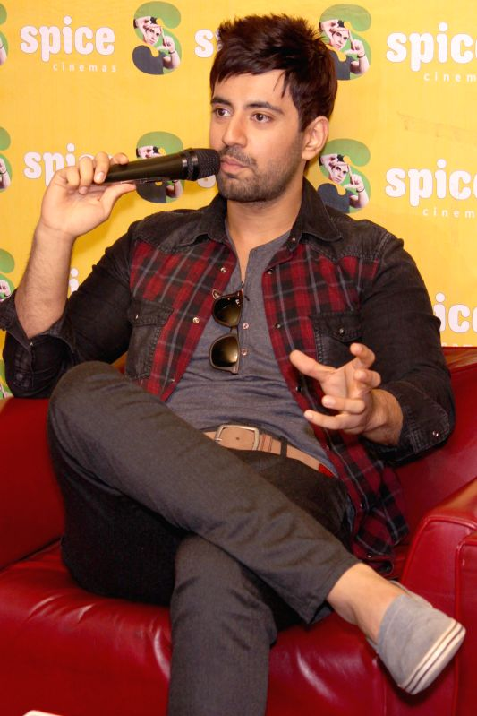 Actor Karanvir Sharma during a press meet for their upcoming film `Zid`, in Noida, UP on Nov 27, 2014.