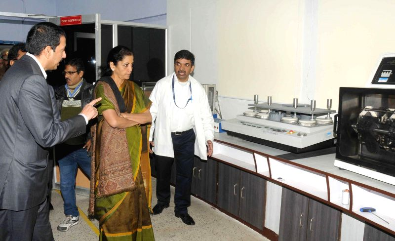 The Union Minister of State for Commerce and Industry (Independent Charge), Nirmala Sitharaman visits the Footwear Design and Development Institute (FDDI) Convocation, in Noida, Uttar Pradesh .