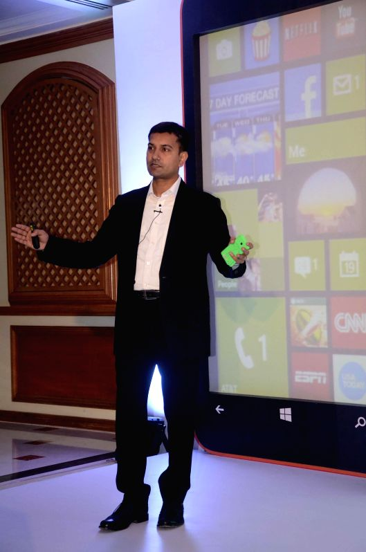 Nokia India, Director (Sales) Raghuvesh Sarup during launch of Lumia 630 in Mumbai on May 12, 2014.