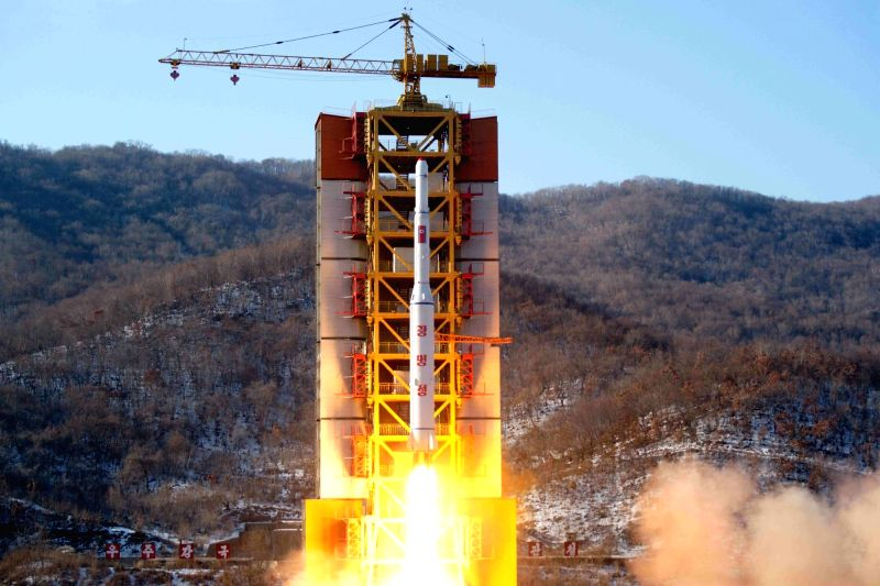 North Korea: Shown is a file photo of North Korea test firing a rocket at its Sohae Satellite Launching Station, the country's main such location since 2012, on Feb. 7, 2016. U.S. website 38 North ...
