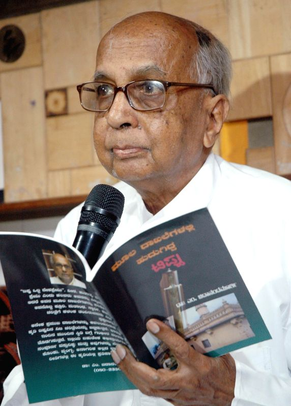 Noted writer and historian Prof. Chidanandamurthy during a press conference in Bangalore on May 12, 2014.