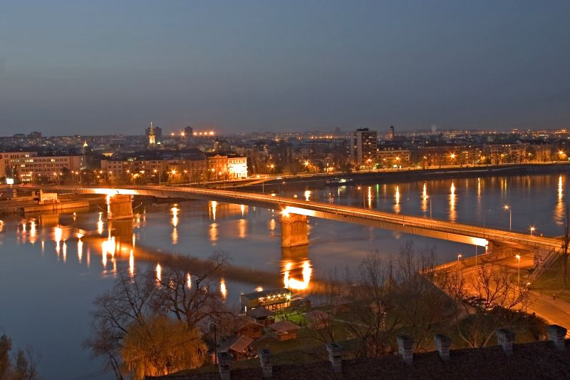 Novi Sad Petrovaradin Danube bridge