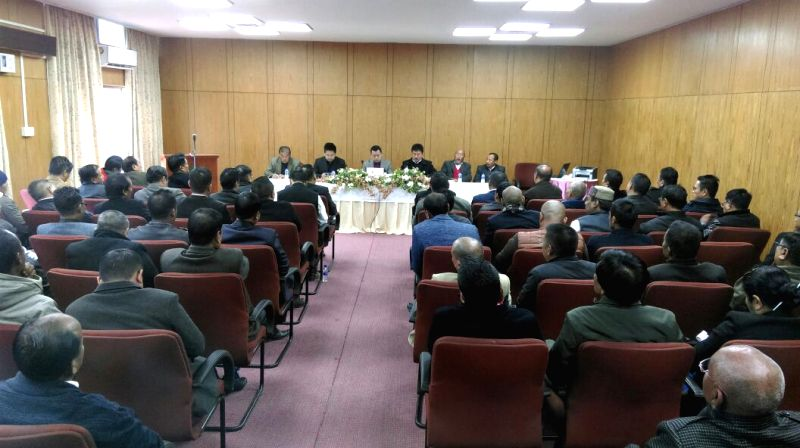 NSCN (I-M) and NNPGs representatives with CCNTHCO members attend a meeting in the presence of Core Committee of Nagaland Tribal Hohos and Civil Organisations (CCNTHCO) at Kohima in Nagaland ...