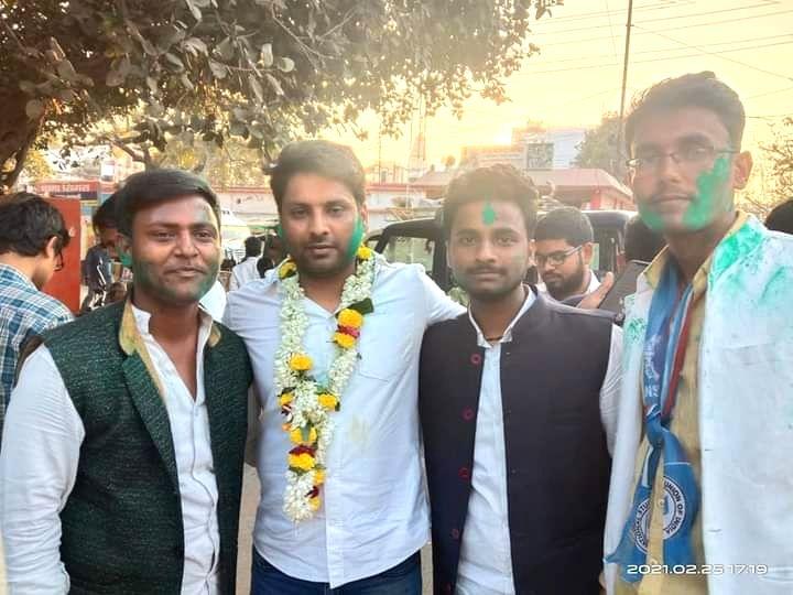 NSUI wins students union polls in Kashi Vidyapeeth.