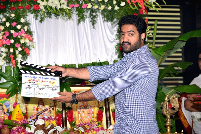 NTR, Puri Jagannaths new film launched today morning at Hyderabad. (Photo: IANS).