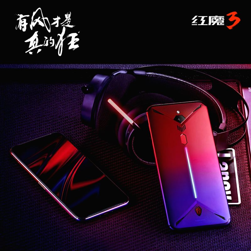 Nubia's Red Magic 3 gaming phone that comes with 5,000mAh battery and an internal turbo fan.