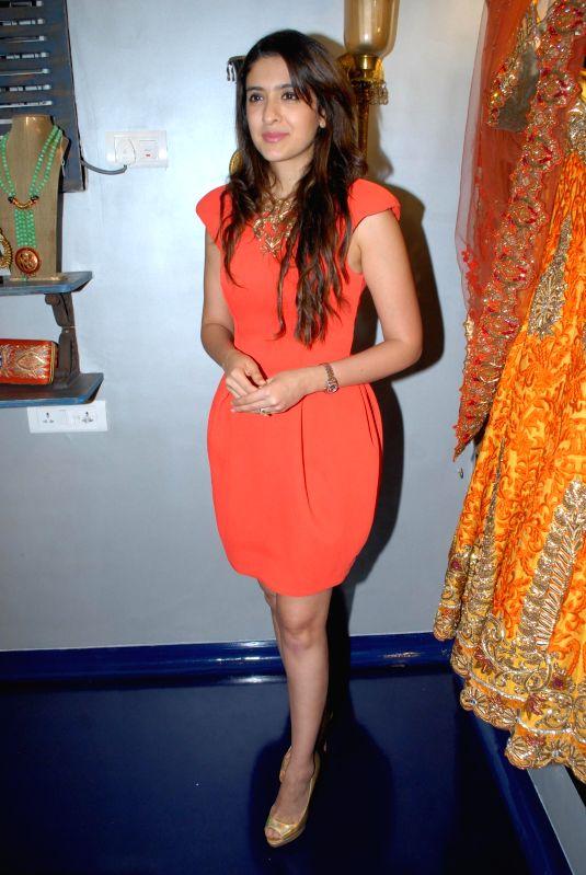 Nutritionist Pooja Makhija during the store opening of designer Mayyur Girotra in Mumbai, on April 18, 2014.