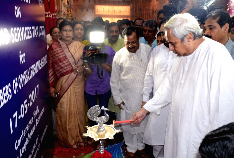 Odisha Chief Minister Naveen Patnaik inaugurates a workshop on GST in Bengaluru on May 17,  2017. - Naveen Patnaik