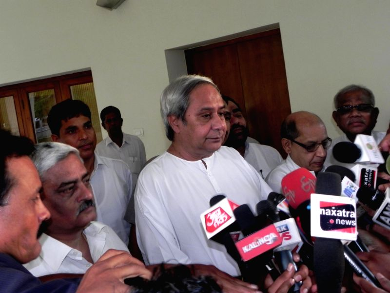 Odisha Chief Minister Naveen Patnaik talks to press in Bhubaneswar, on May 27, 2016. (Photo : Arabinda Mahapatra/IANS) - Naveen Patnaik