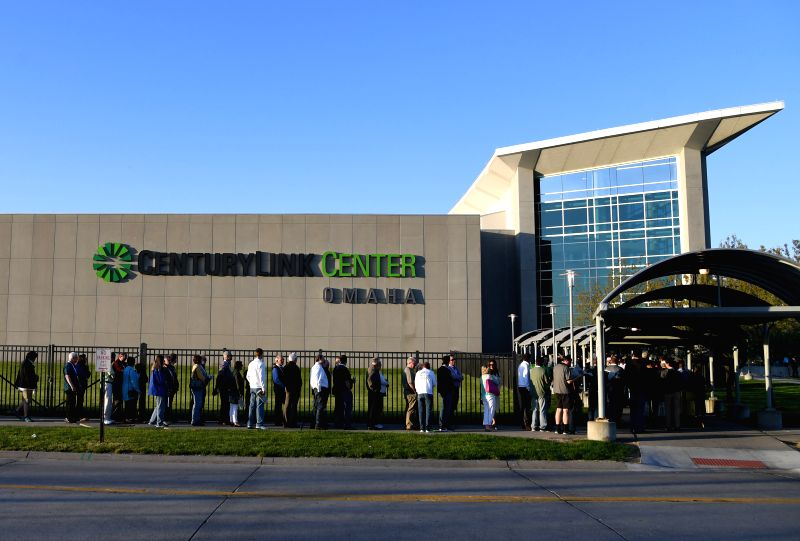 OMAHA, May 7, 2017 - Shareholders line to enter CenturyLink Center for Warren Buffett's Berkshire Hathaway Annual Meeting in Omaha, Nebraska, the United States, May 6, 2017. The event attracts more ...