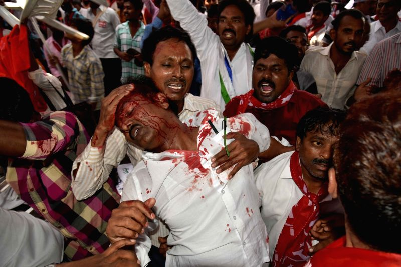 One of the six persons who were injured as the protest by opposition parties over the shifting of 'Dharna Chowk', a popular venue for staging protests, turned violent in Hyderabad on May ...