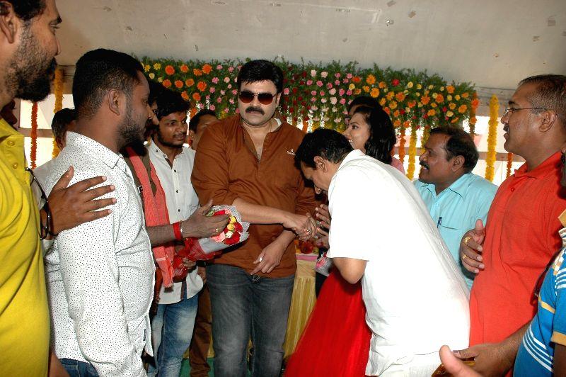 Opening celebration of Telugu film Kalyan Fan of Pavan.