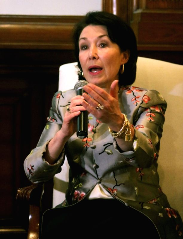 Oracle CEO Safra Catz during a programme organised to sign an MoU between Jharkhand government and Oracle at Oracle OpenWorld (OOW) in New Delhi on May 8, 2017.