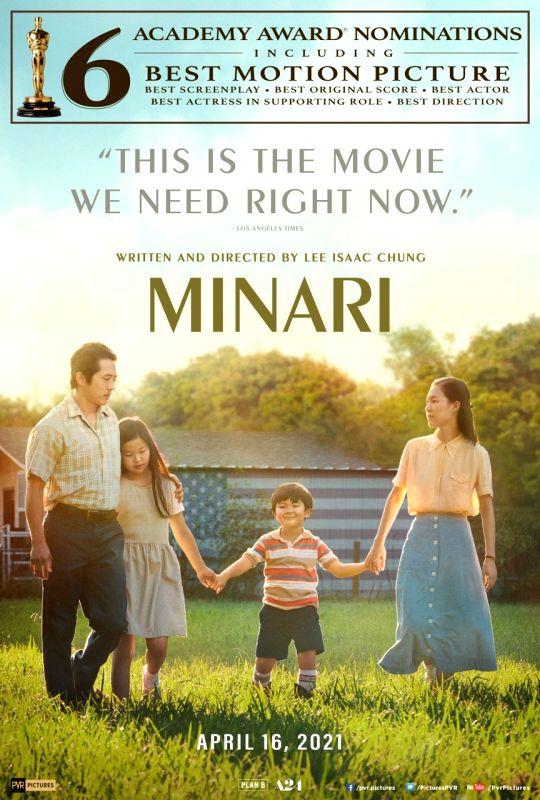 Oscar-nominated film 'Minari' in Indian theatres on April 16.
