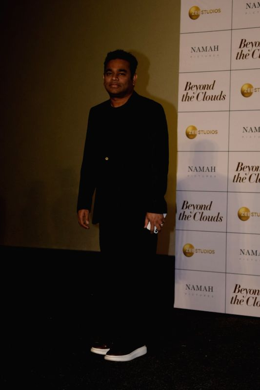 "Oscar winning composer A.R. Rahman at the trailer launch of his upcoming film ""Beyond the Clouds"" in Mumbai on Jan 29, 2018."