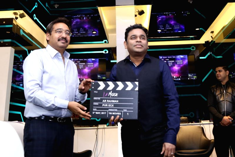 "Oscar winning music director AR Rahman at the launch of an exclusive India prelude of his directorial debut ""Le Musk"" in Noida on May 5, 2017. - A"