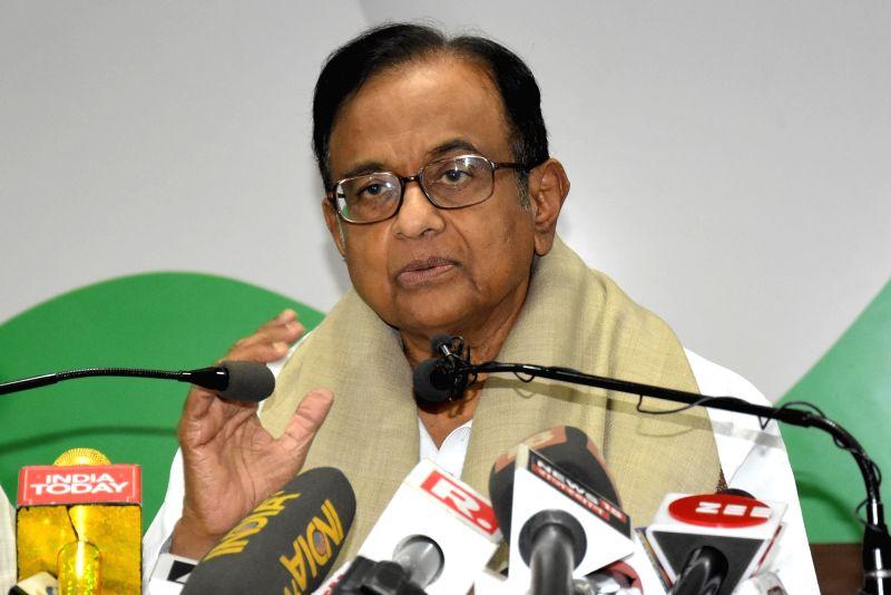 P. Chidambaram. (Photo: Ravi Shankar Vyas/IANS)