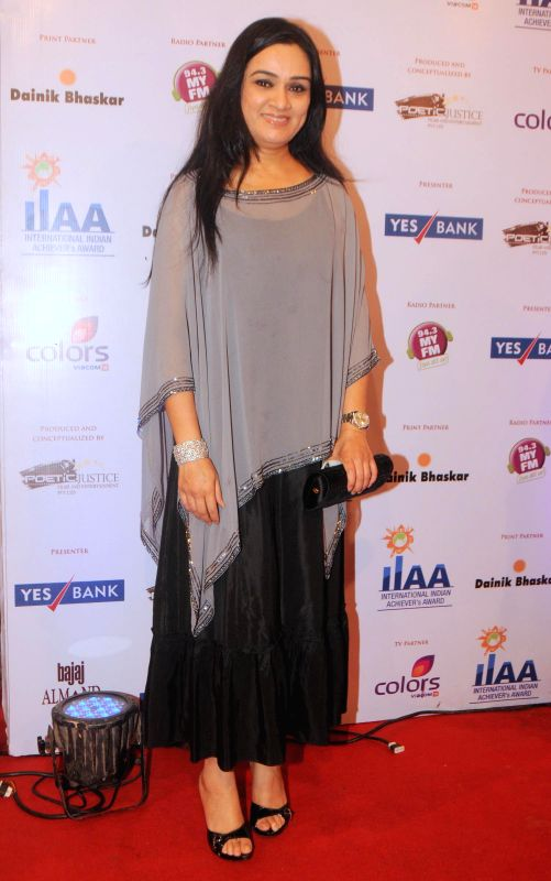 Padmini Kolhapure during the International Indian Achiever`s Award 2014 presented by YES BANK in Mumbai on July 27, 2014.