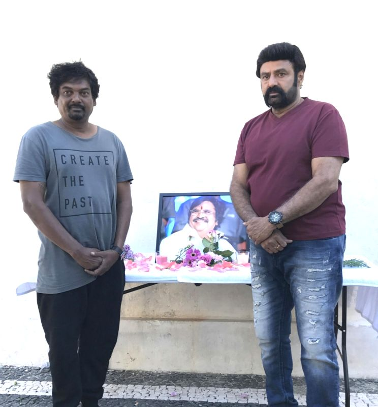 Paisa Vasool team pays tribute to Dasari Narayana Rao at Portugal. Actor Nandamuri Balakrishna, Director Puri Jagannath's Paisa Vasool team pays tribute to Dasari Narayana Rao. - Nandamuri Balakrishna and Dasari Narayana Rao